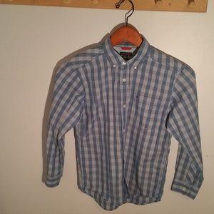 Tommy Hilfiger Size 8 Blue Check Oxford Shirt
